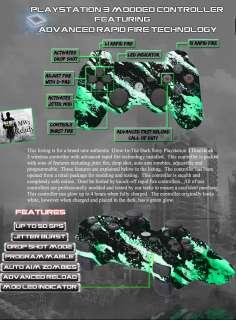PS3 MODDED RAPID FIRE CONTROLLER 10 MODE DROP SHOT MW3