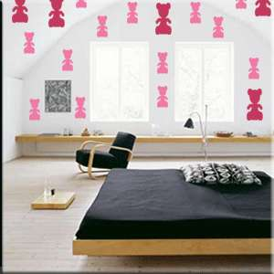 32 2 inch Teddy Bear Vinyl Wall Decor Stickers
