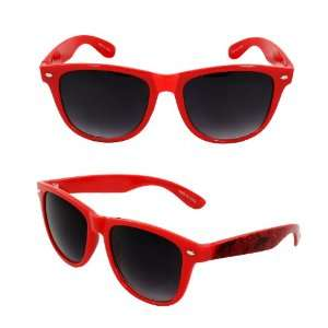 Wayfarer Fashion Sunglasses 4303RDPB Red Graphic Emblem