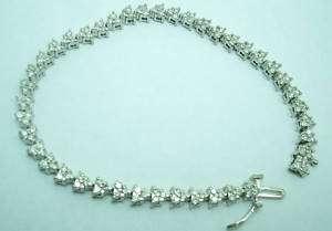 14K white gold diamond tennis bracelet 1.25 carats t.w.