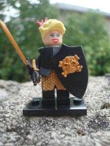 CUSTOM LEGO MINIFIG KINGDOMS BLACK PRINCESS CROWN RARE
