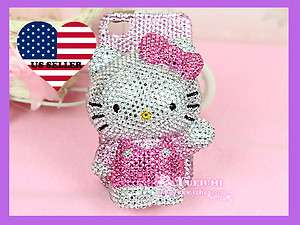 Bling High Quality Super Shinny 3D Hello Kitty Apple iPhone 4 4S Case