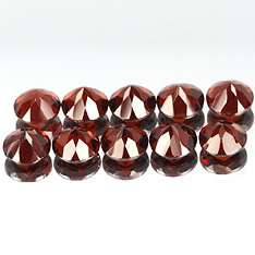 2mm Matched Lot 10pcs Round Natural Red GARNET cgn1