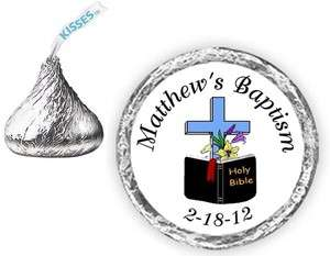108 BAPTISM CHRISTENING Candy Kiss kisses Labels Favors