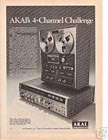 1974 Akai 4 Channel reel to reel Tape Deck Ad