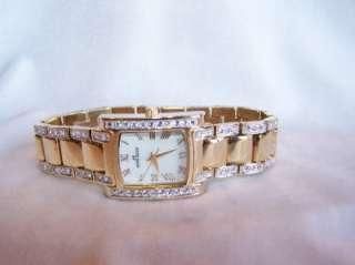 AK Anne Klein Watch, Womens GOLD TONE w CRYSTAL ACCENTS 10/7126 #L51