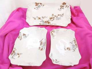 Set of 3 Charles Field Haviland Limoges Porcelain Platter Serving