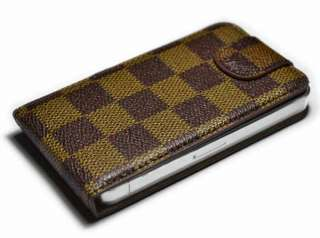 New Brown flip PU leather case for apple iphone 4G 4S