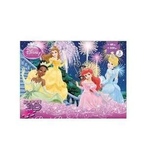 Disney Princess Super 3D Puzzles, 3  100 Piece Puzzles and 1  48 Piece