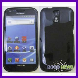 for T Mobile Samsung Galaxy S2   Black Slim TPU Rubber Skin Case Phone