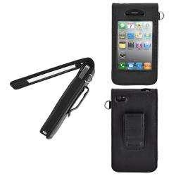 Premium Apple iPhone 4 Leatherette Magnetic Flip Case