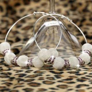 BK82 HOT Basketball Wives Circle Hoops Earring Fashion Jewelry Beads