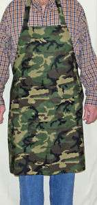 Personalize Camouflage Chef Mom/Dad BBQ Tailgate Apron