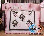 Pink Brown Butterfly 13PCS CRIB BEDDING SET 813026010171