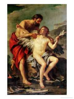 Daedalus Attaching Icarus Wings, circa 1754 Giclee Print by Joseph