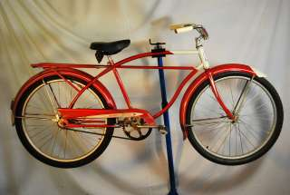 Columbia Newsboy Special balloon tire bicycle bike red rat rod