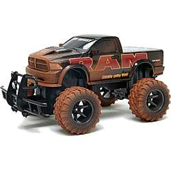 New Bright Black 115 Scale Electric Mud Slinger Dodge Ram RC Truck
