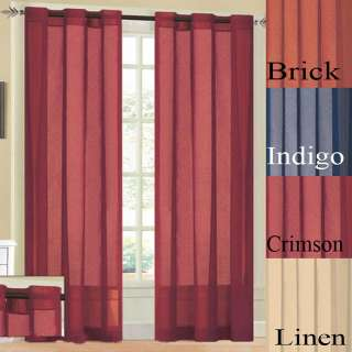 Bedford Faux Linen Grommet 90 inch Curtain Panel