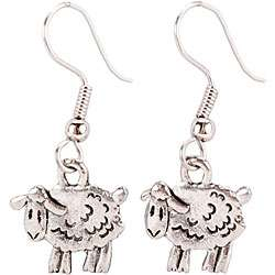 Charming Accents French Wire Sheep Earrings