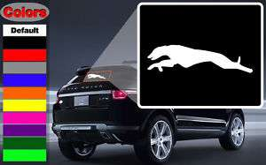 Hound Grey Hound Run Dog Wall Car Vinyl Decal Sticker