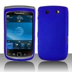 Premium BlackBerry Torch 9800 Blue Rubberized Case
