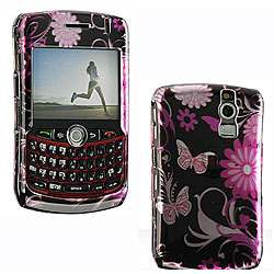 Premium BlackBerry Curve Pink Butterfly Protector Case