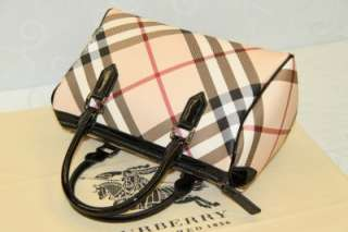Burberry Ladies Nova check coated canvas bowling bag #BU 02