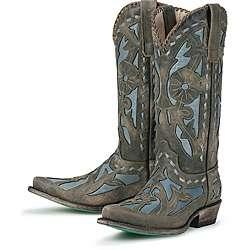 Lane Boots Womens Blue/ Pale Blue Poison Cowboy Boots