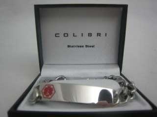 New Colibri Engravable Stainless Steel Medical Bracelet