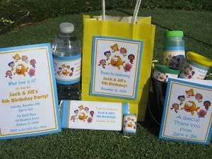Bubble Guppies Birthday PDF CD w/ Invitation Favor Tags Water Candy