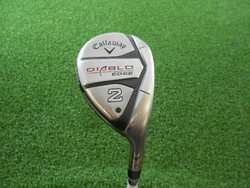 CALLAWAY DIABLO EDGE TOUR 18* 2H HYBRID GRAPHITE REGULAR FLEX GOOD