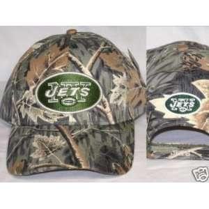 NFL New York Jets Camo Adjustable Baseball Hat Sports