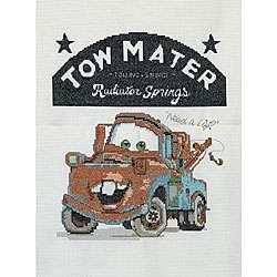 Disney Pixar Cars Tow Mater Counted Cross Stitch Kit