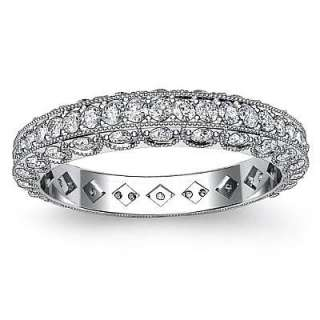 New Diamond Wedding LadiesEternity Band 14k White Gold sz5.75
