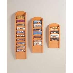 Lesro 7Pocket Wood Front Magazine Rack: Office Products