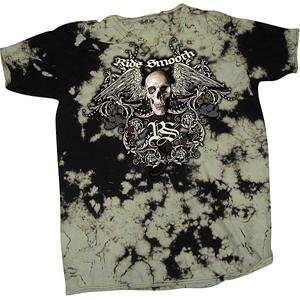 Smooth Industries Skullwing T Shirt   Large/Black