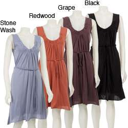 AtoZ Womens Deep Scoop neck Dress