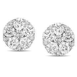 10k White Gold 1ct TDW Diamond Stud Earrings (G H, I1 I2)