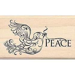 Inkadinkado Peace Dove Wood mounted Rubber Stamp