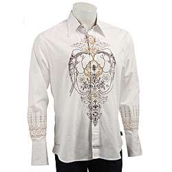 English Laundry Mens White Malabar Woven Shirt