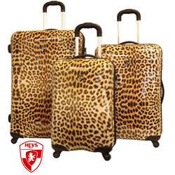 Heys USA Exotic Leopard 3 piece Hardside Spinner Luggage Set