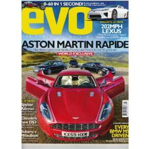 Evo Magazine (Aston Martin Rapide, March 2010) various Books