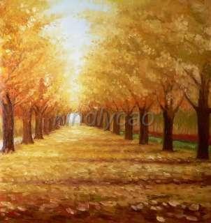 Huge 3 Panel Modern Landscape Tree Wall Art Oil Painting Kx09