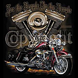 Motorcycle For the People Biker T Shirt