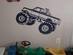 HUGE Monster truck GARAGE DOOR wall Art Decal Decals