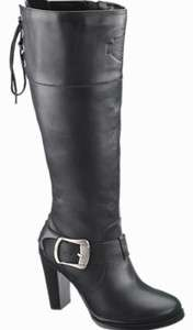 Harley Davidson SAMI Womens Black Leather Dress Boots D85157