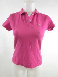 LACOSTE Hot Pink Short Sleeve Polo Shirt Sz 40