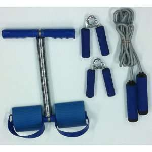 Piece Fitness Set  Sit Up Bar, Hand Grips and Jump Rope: