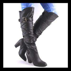 75949ae0c5f Black Slouch Boots for Women on PopScreen