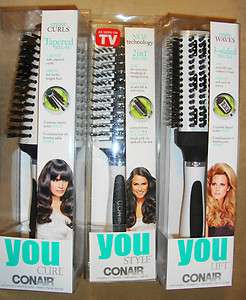 CONAIR  YOU STYLE,YOU LIFT&YOU CURL MULTI PURPOSE BRUSHES UNIQUE NEW